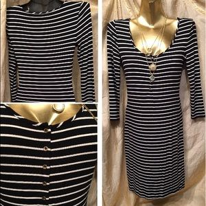 Juicy couture dress black/ white stripes  size S